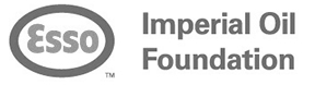 Logo of the Imperial Oil Foundation with accompanying characteristic oval 'Esso' symbol.